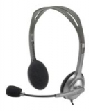 Headset Logitech H110 (20-20000Hz, mic, 2x3.5mm jack, 1.8m) ( 981-000271)
